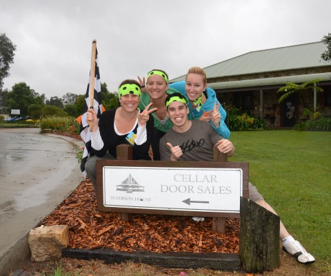 Bowral activities on an Amazing Race to wine cellar doors for blind wine tasting