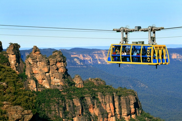 Amazing Race across the Scenic World Skyway Cable Car in the Blue Mountains