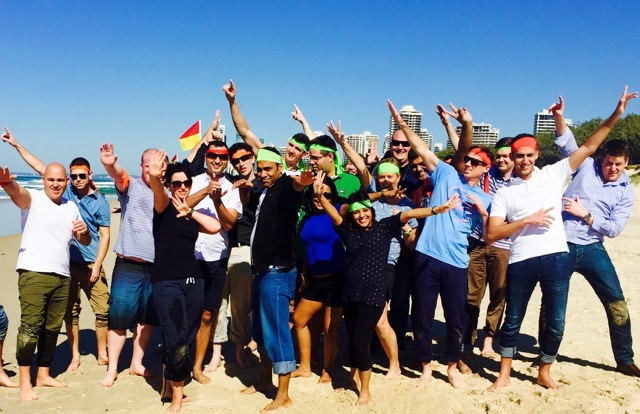 Surfers Paradise beaches team building activities and fun amazing race events for corporate groups conferencing on Gold Coast