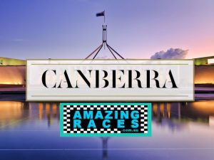 Canberra Amazing races to Parliment House, Arboretum, Botanic Gardens, War Memorial and National Galley NCA