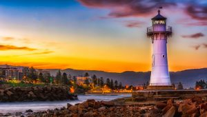 Wollongong Flagstaff lighthouse from Novotel for the best Gong team activities and experiences