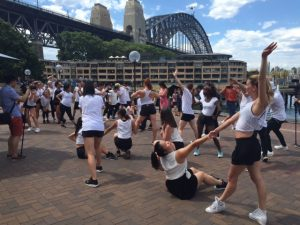 Sydney wedding proposal marriage flash mob - flash mobbing dancing on the streets