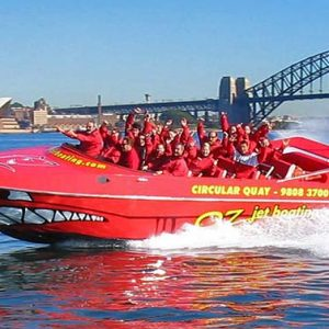 Jet boating Thrills on Sydmney harbour amazing race competitions for teams