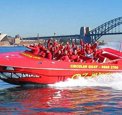 Jet boating Thrills on Sydney harbour amazing race competition for corporate teams