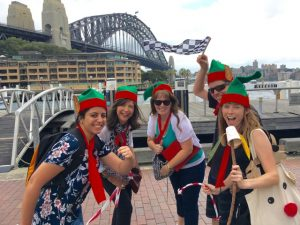 Fun-team-building-christmas-elves celebrating sydney activities and events