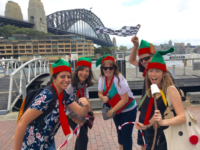 Christmas Amazing Races Sydney Rocks Darling Harbour Botanic Gard